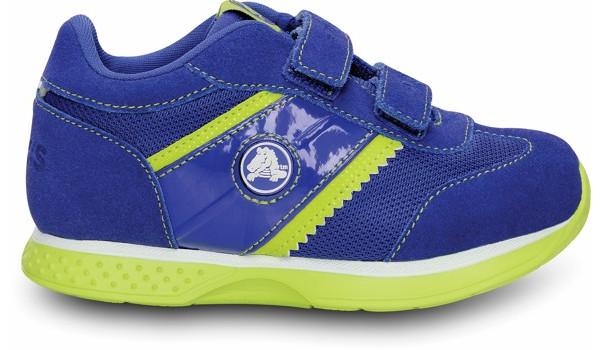 Kids Retro Sprint Sneaker, CeruleanBlue/Citrus 1
