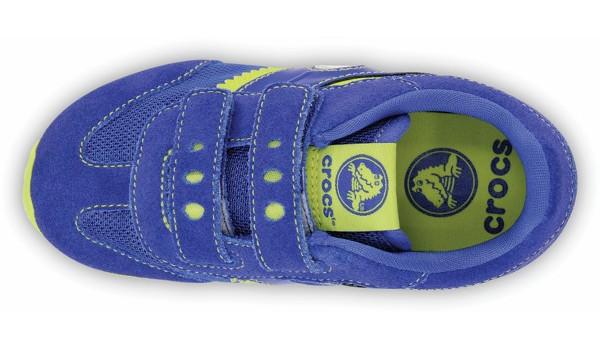 Kids Retro Sprint Sneaker, CeruleanBlue/Citrus 6