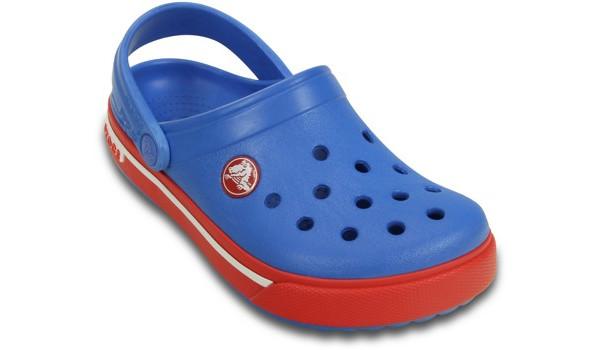 Kids Crocband 2.5 Clog, Varsity Blue/Red 5