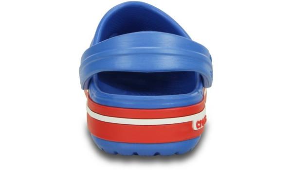 Kids Crocband 2.5 Clog, Varsity Blue/Red 2