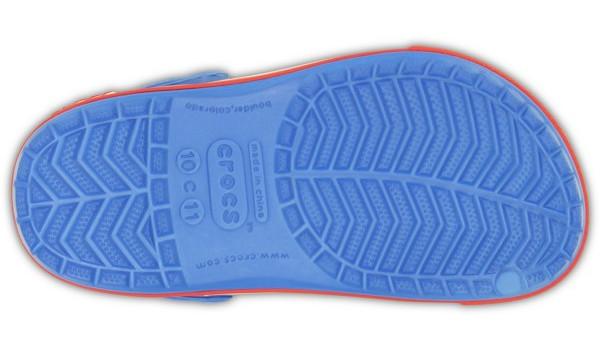 Kids Crocband 2.5 Clog, Varsity Blue/Red 3