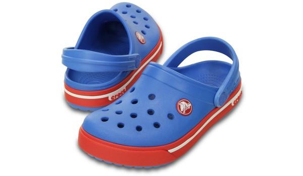 Kids Crocband 2.5 Clog, Varsity Blue/Red 4