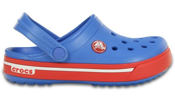 Kids Crocband 2.5 Clog, Varsity Blue/Red 1