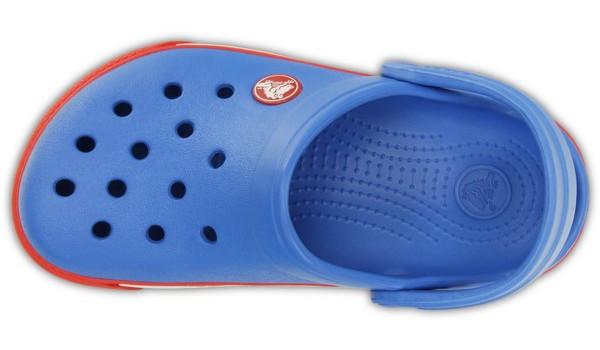 Kids Crocband 2.5 Clog, Varsity Blue/Red 6