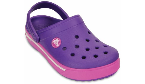 Kids Crocband 2.5 Clog, Neon Purple/Neon Magenta 5