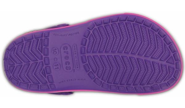 Kids Crocband 2.5 Clog, Neon Purple/Neon Magenta 3