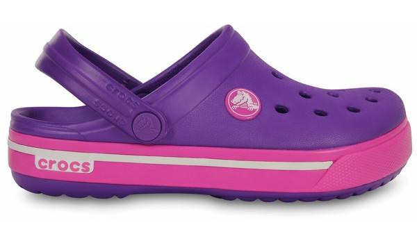 Kids Crocband 2.5 Clog, Neon Purple/Neon Magenta 1