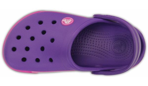 Kids Crocband 2.5 Clog, Neon Purple/Neon Magenta 6