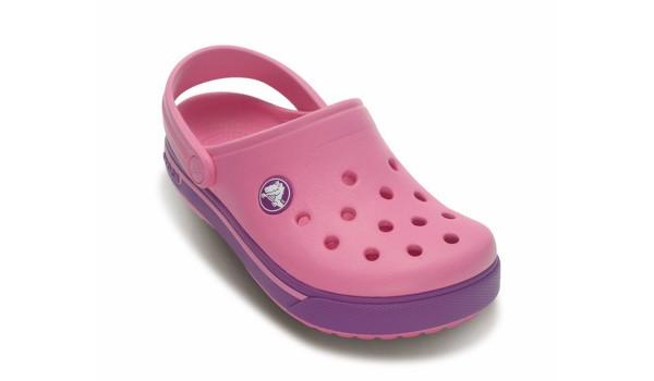 Kids Crocband 2.5 Clog, Pink Lemonade/Dahlia 5