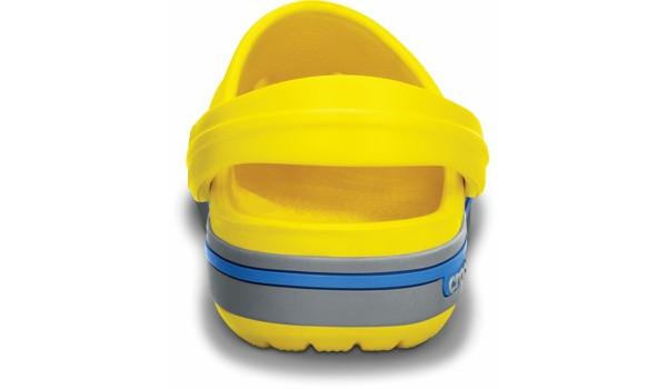 Kids Crocband 2.5 Clog, Yellow/Light Grey 2