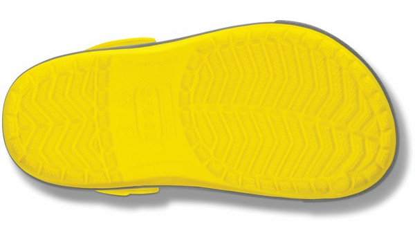 Kids Crocband 2.5 Clog, Yellow/Light Grey 3