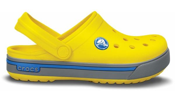 Kids Crocband 2.5 Clog, Yellow/Light Grey 1