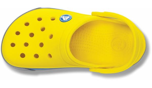 Kids Crocband 2.5 Clog, Yellow/Light Grey 6