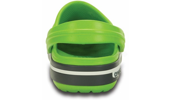 Kids Crocband 2.5 Clog, Volt Green/Charcoal 2