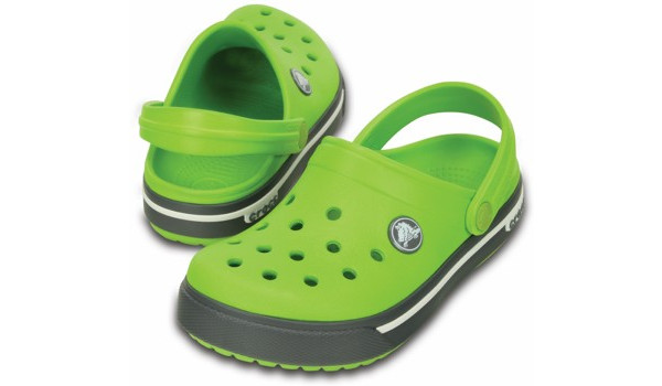 Kids Crocband 2.5 Clog, Volt Green/Charcoal 4