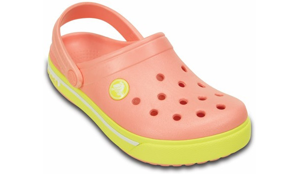 Kids Crocband 2.5 Clog, Melon/Chartreuse 5