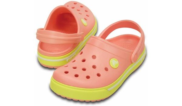 Kids Crocband 2.5 Clog, Melon/Chartreuse 4