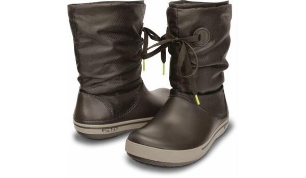Crocband 2.5 Lace Boot, Espresso/Mushroom 3