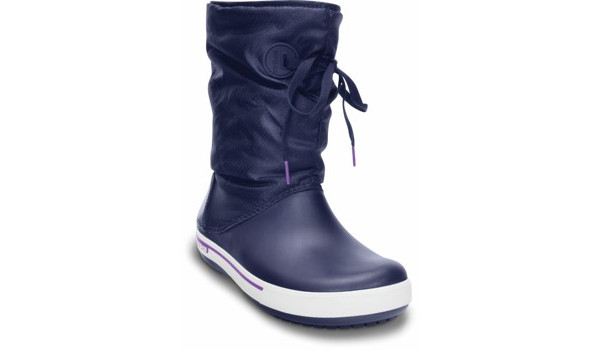 Crocband 2.5 Lace Boot, Nautical Navy/Neon Purple 5