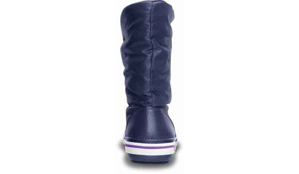 Crocband 2.5 Lace Boot, Nautical Navy/Neon Purple 2