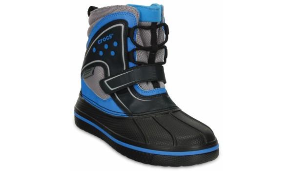 Kids AllCast Waterproof Boot, Black/Ocean 5