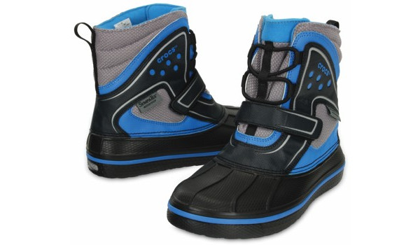 Kids AllCast Waterproof Boot, Black/Ocean 4