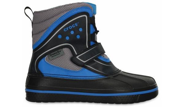 Kids AllCast Waterproof Boot, Black/Ocean 1