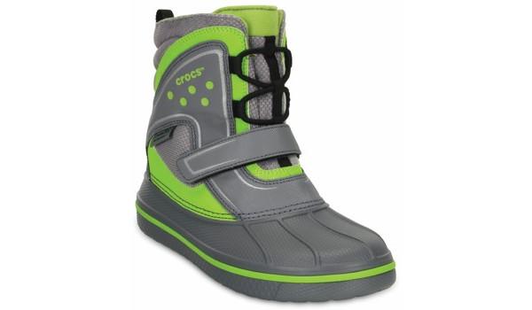 Kids AllCast Waterproof Boot, Charcoal/Volt Green 5