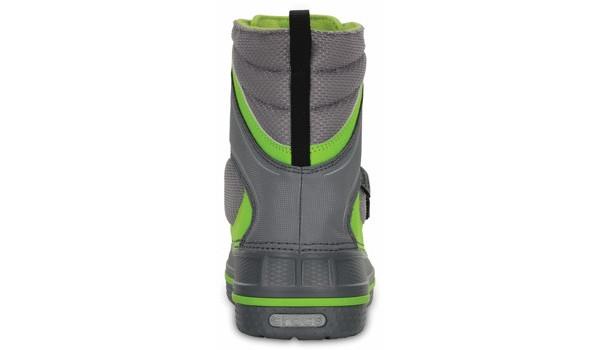 Kids AllCast Waterproof Boot, Charcoal/Volt Green 2
