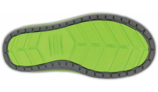 Kids AllCast Waterproof Boot, Charcoal/Volt Green 3