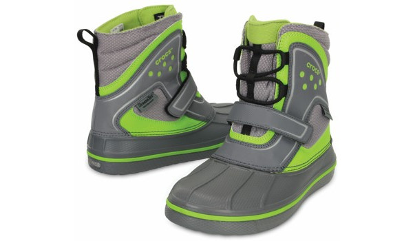 Kids AllCast Waterproof Boot, Charcoal/Volt Green 4
