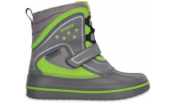 Kids AllCast Waterproof Boot, Charcoal/Volt Green 1