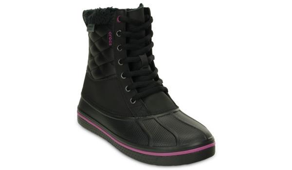 AllCast Waterproof Duck Boot Women, Black/Viola 5