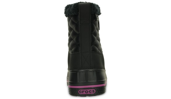 AllCast Waterproof Duck Boot Women, Black/Viola 2