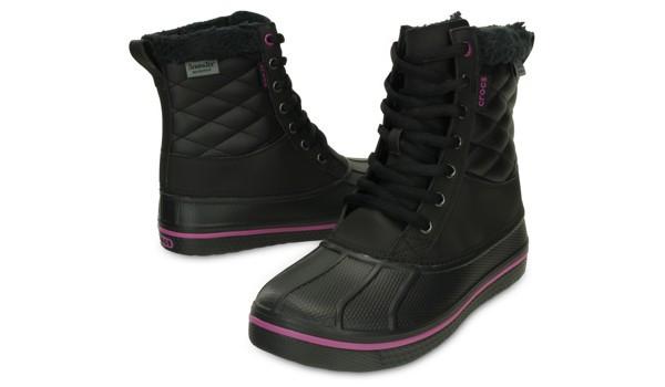 AllCast Waterproof Duck Boot Women, Black/Viola 4