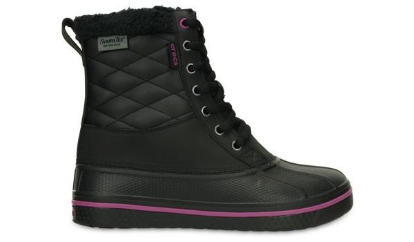 AllCast Waterproof Duck Boot Women, Black/Viola 1