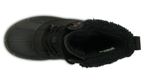 AllCast Waterproof Duck Boot Women, Black/Viola 6