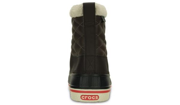 AllCast Waterproof Duck Boot Women, Espresso/Red 2