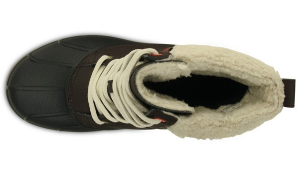 AllCast Waterproof Duck Boot Women, Espresso/Red 6