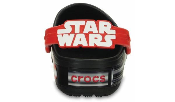 Kids CrocsLights Star Wars Vader Clog, Black/Flame 2