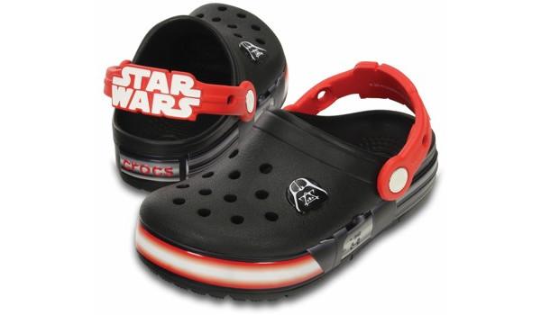 Kids CrocsLights Star Wars Vader Clog, Black/Flame 4