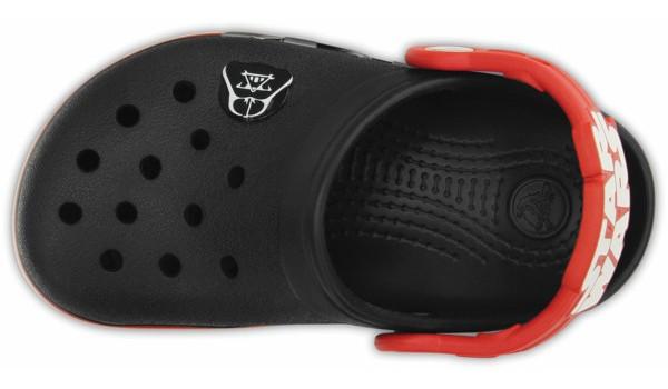 Kids CrocsLights Star Wars Vader Clog, Black/Flame 6