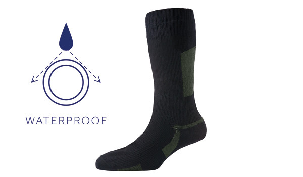 Walking Sock, Black/Olive 1