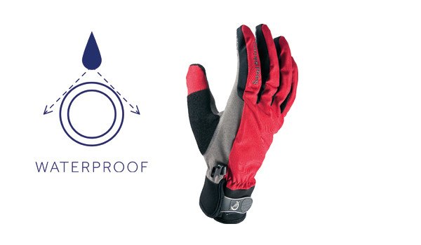 All Weather Cycle Glove Men, Red/Grey 1
