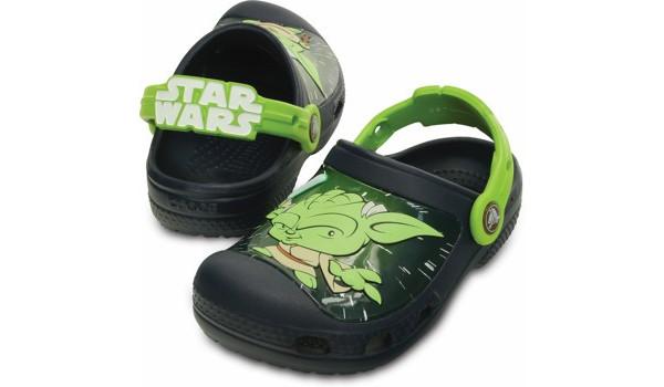 Kids Creative Crocs Star Wars Yoda Clog, Navy 4