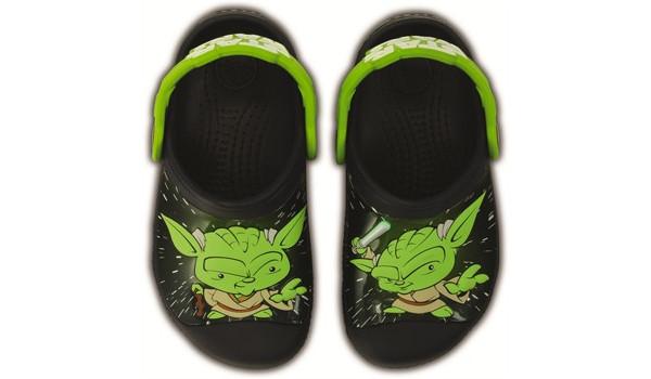 Kids Creative Crocs Star Wars Yoda Clog, Navy 6