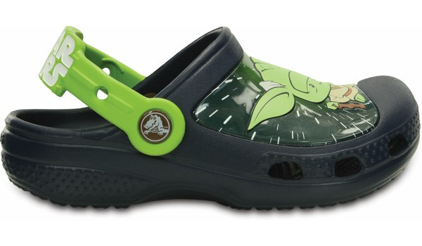 Kids Creative Crocs Star Wars Yoda Clog, Navy 1