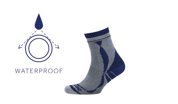 Thin Ankle Length Sock, Grey/Blue 1
