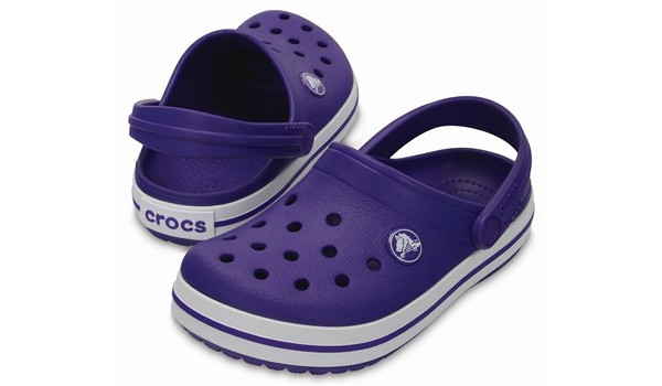 Kids Crocband, Ultraviolet/White 4