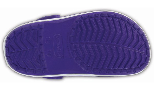 Kids Crocband, Ultraviolet/White 3